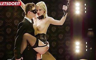 LETSDOEIT - Erotic Anal Bondage Sex With Hot Establishing Teen Neonate Zazie Skymm