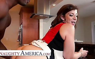 Naughty America Sara Jay enjoys her treacly cream pie