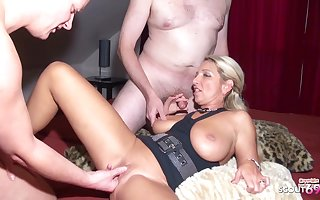 German MILF Teach Two Nerds to Fuck in Amateur Threesome