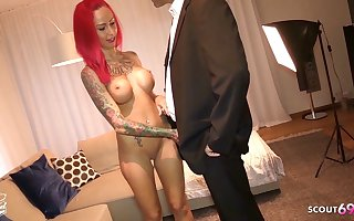 Redhead German Botch Bareback Fianc� by Rich older Client