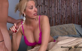 Duo Milfs Jerk Lacking and Suck Young Cock