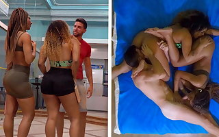 Two Big Ass Brazilian Sisters Win Fucked Away from A White Beggar