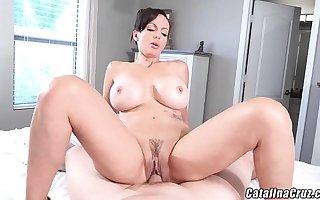 Catalina Cruz Horny Housewife gets dick plus creampie