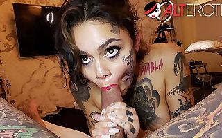 Genevieve Sinn fucked after getting a face tattoo