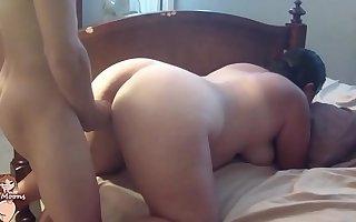Chubby MILF stepmom strips and fucks big cocked Stepson #24