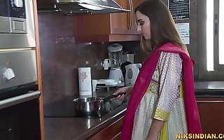 Newly fond of Indian bhabhi strips her salwar and loses her abstinence with devar ji