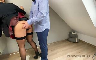 Boss fucks secretary in leather inclusive - business-bitch