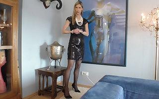 Elegant Curator! What does she wear underneath?