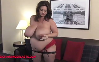 9 months pregnant with huge milk loaded tits