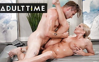 Teaching Son-In-Law Nuru Palpate By Riding His Cock!