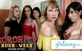 GIRLSWAY – College Sorority Scissoring with Ivy Added to Judy