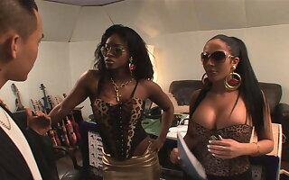 Wanna be rapstars Jasmine + Romana get dicked by Asian cock