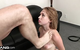 BANG Casting - Teen Inexpert Iggy Amore Gets Covered in Cum