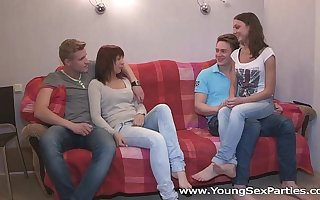 Young Sex Parties - Calling a friend for a sex party Kristina, Foxy Di