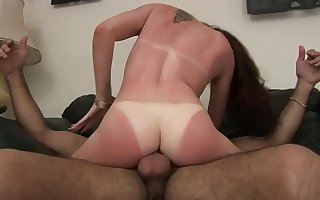 SUNBURNED REDHEAD Explicit GETS A ROUGH Mad about FOR HER AUDITION ON THE Doff expel