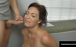 Husband's Employer Gets Milf Charlee Track To Swell up His Cock!
