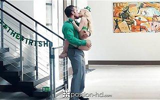 Passion-HD - Petite blonde Piper Perri fucks overhead St-Patrick's Day