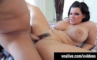 Hot BBW Angelina Castro Pussy & Mouth Fucked! VNALive.com!