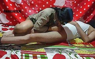 Bonking Indian hot crestfallen pussy with school teacher and student madam Dealings desi