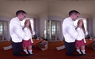 DDFNetwork VR - Blue Angel Spanked and Fucked Permanent connected with VR