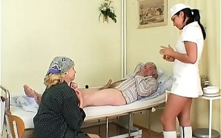 Naughty Hot Punctiliousness Helps Aged Patient To Get Laid