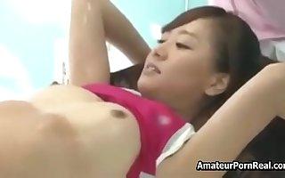 Fucked Innocent Asian Japanese Girl Palpate Glass Room