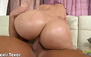 Blonde Alexis Texas suck and fuck a fat Hawkshaw